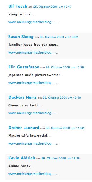 Blogspam ...